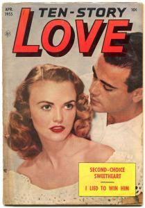 Ten-Story Love Vol 35 #3 1955- Photo cover- Ace Golden Age Romance VG