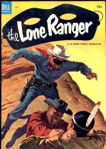 LONE RANGER #61-HIGH GRADE 1953-DELL TONTO  SILVER FN/VF