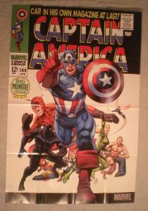 CAPTAIN AMERICA #100 Promo Poster, 24x36, 2011, Unused, more in our
