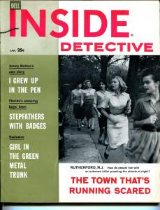Inside Detective 1/1960-lurid pulp thrills-crime-terror-murder-FN/VF