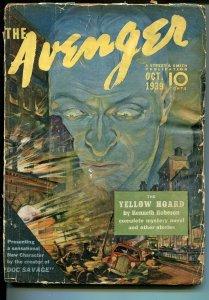 Avenger #2 10/1939-Yellow Hoard-Kenneth Robeson-hero pulp-FR/G