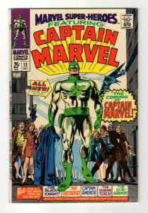 Marvel Super-Heroes #12, VF(8.0),1967, Marvel, First Captain Marvel