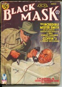 Black Mask 3/1943-Rafael DeSoto masked gunman cover-Erle Stanley Gardner-Flas...