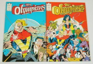 the Olympians #1-2 VF/NM complete series TODD MCFARLANE epic comics set lot 1991
