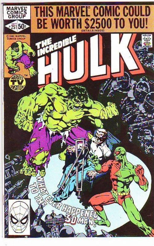 Incredible Hulk #251 (Sep-80) VF/NM High-Grade Hulk