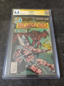 WARLORD #22 CGC 5.5 SIGNATURE SERIES SIGNED BY MIKE GRELL. WHITMAN VARIANT