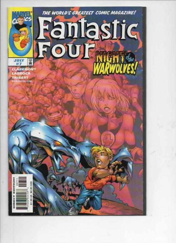 FANTASTIC FOUR #7, Vol 3, NM, Thing, Human Torch, 1998, more FF in store