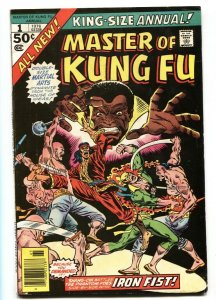 Master of Kung Fu Annual #1 1976 comic book Marvel VF-