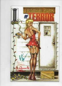 TRAILER PARK OF TERROR #3, NM, Zombies, Tucci, Variant Signed Dracoules Fridolfs