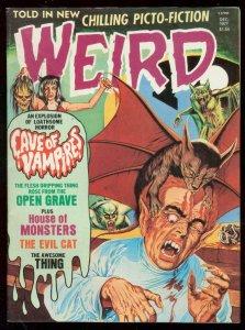 WEIRD-DEC 1977-BRUTAL COVER-VAMPIRES-DISMEMBERMENT-RARE VF