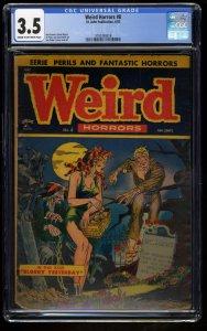 Weird Horrors #8 CGC VG- 3.5 Cream To Off White