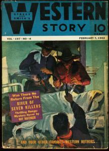 WESTERN STORY 1942 FEB 7 STREET & SMITH PULP GUNFIGHTS VG