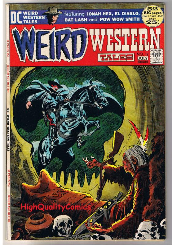 WEIRD WESTERN #12, VF, Neal Adams, 3rd Jonah Hex, 1972, more JH in store