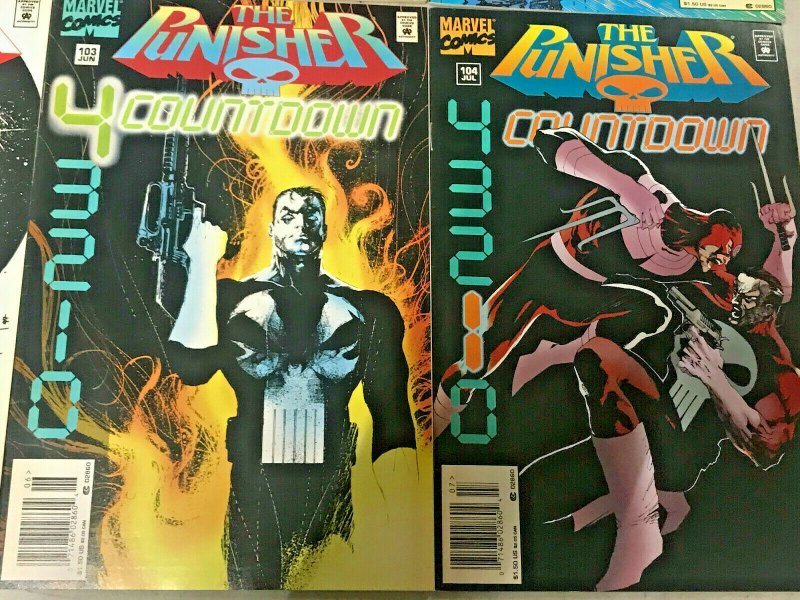 PUNISHER#94-104 VF/NM LOT 1994 (10 BOOKS) HTF LATER ISSUES MARVEL COMICS