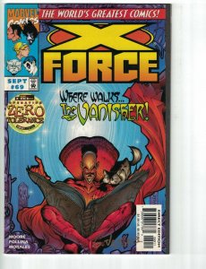 X-Force #69 VF signed by Gus Vazguez - vanisher - domino - Marvel 1997 - Moore