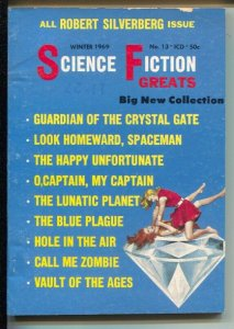 Science Fiction Greats #13 Winter 1969-girl fight cover-Robert Silverberg iss...