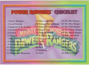 1994 Mighty Morphin Power Rangers #72 Checklist