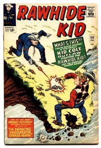 RAWHIDE KID #50 comic book 1966-MARVEL-Kid Colt-GLOSSY COVER-VF-