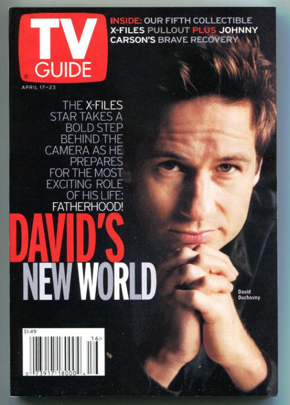 X-FILES TV guide, David Duchovny, Fox Mulder, Apr 17-23 1999, more in store