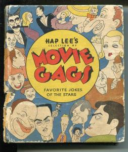 HAP LEE'S MOVIE GAGS #1145 1935-WHITMAN-BIG LITTLE BOOK-MOVIE STARS-good/vg