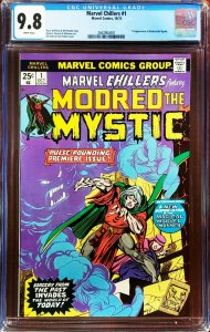 Marvel Chillers 1 CGC 9.8 1st Modred the Mystic Marvel 1975