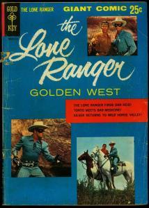 Lone Ranger Golden West #1 1966-Gold Key Giant Western G