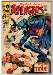 AVENGERS 50, Captain America, Hercules, Titan, 1963, VF/NM