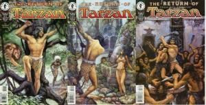 TARZAN RETURN OF (1997 DH) 1-3  the COMPLETE series!