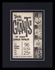 1965 Gold Key Flintstones Bugs Bunny Giants Framed 11x14 ORIGINAL Advertisement