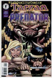 TARZAN vs PREDATOR #4, NM+, Edgar Rice Burroughs, 1996, more ERB in store