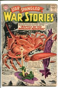 STAR SPANGLED WAR STORIES #107-1963-DC-DINOSAURS-SUBMARINE-vg