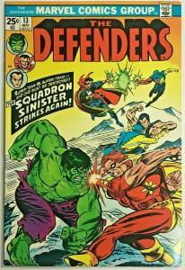 DEFENDERS#13 VF 1974 MARVEL BRONZE AGE COMICS