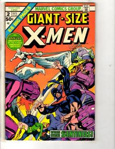 Giant Size X-Men # 2 FN Marvel Comic Book Wolverine Iceman Storm Cyclops CR54A