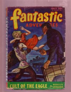 FANTASTIC ADVENTURES-JULY 1946-HORROR MONSTER SF  PULP VG