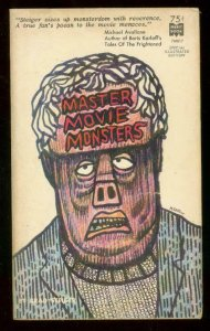 MASTER MOVIE MONSTERS PAPERBACK 1965-MERIT BOOK #7M817 VG