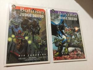 Batman Judge Dredd 1 & 2 Set Lot Die Laughing NM Near Mint