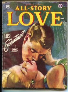 All Story Love 3/1948-pin-up girl cover-female pulp fiction authors-VG+