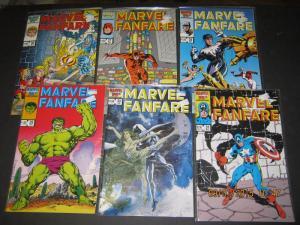 Marvel Comics SET of 6 #26-#31 MARVEL FANFARE FINE/VERY FINE (SIC305)