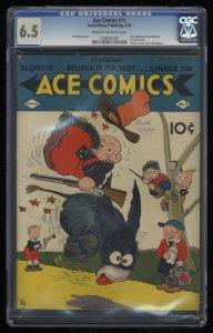 Ace Comics #11 CGC FN+ 6.5 Cream To Off White 1st Phantom!