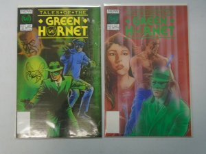 Tales of the Green Hornet set #1+2 8.0  VF (1990 NOW Comics 1st Series)