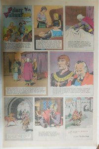 Prince Valiant Sunday #1560 by Hal Foster from 1/1/1967 Rare Full Page Size !