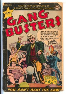 Gang Busters #26 1952-DC-Freak show cover & story-Carnival of Crime-G-