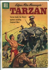 TARZAN #122-1961-DELL-PAINTED COVER- BURROUGHS-MARSH- MANNING-fn minus