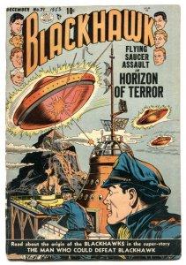 Blackhawk #71 1953-Flying saucer cover- VG-
