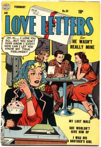 LOVE LETTERS #32-ICE CREAM ROMANCE-SPICY POSES-GOOD GIRL ART-1954-RARE