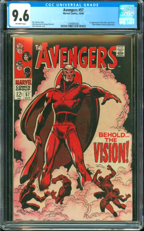 Avengers #57 CGC Graded 9.6 1st appearance of the Siver Age Vision