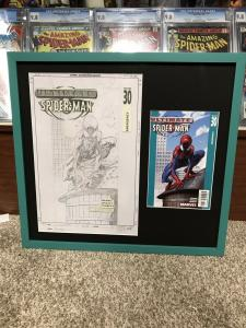 Ultimate Spider-man 30 Original Art cover Mark Bagley Mint With Transparency