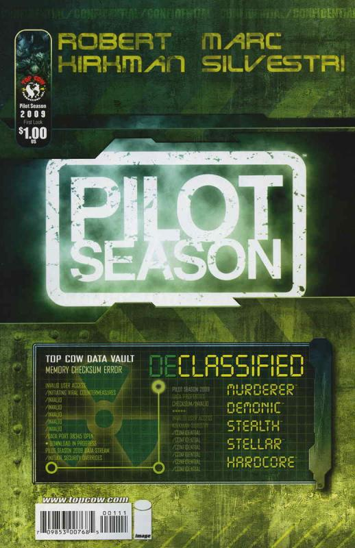 Pilot Season: Declassified #1 VF/NM; Image | save on shipping - details inside
