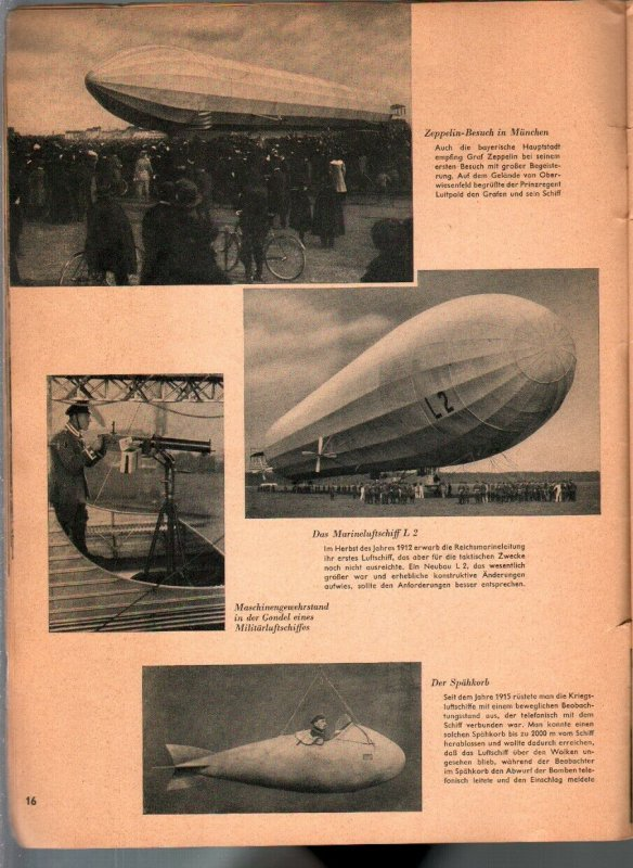 Zeppelin 1936-German language-history-loaded with pix-Nazis-60+ pages-P/FR