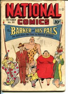 NATIONAL #50 1945-QUALITY-THE BARKER-QUICKSILVER-THE WHISTLER-WWII-good